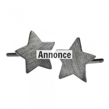 pernille corydon stjerne øreringe i sort sølv