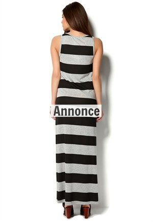 lang stribet kjole fra vila