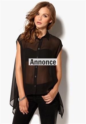 de7c32569b07 Gennemsigtig skjorte - Find billige transparente toppe til kvinder